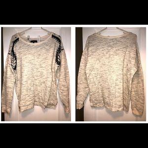 Sanctuary Sweatshirt Bead Embroidery Size M